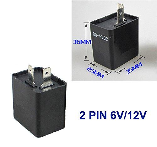 Relais für 6V/12V LED Blinker 2pol Blinkgeber Blink Flasher Rele