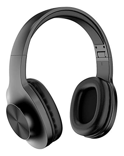 Lenovo Audio HD116 Wireless Headphones, 24 Hours Playtime, Bluetooth 5.0, IPX5 Sweat and Water Resistant, Microphone, Extra Bass Mode, Soft Carry Pouch, Black