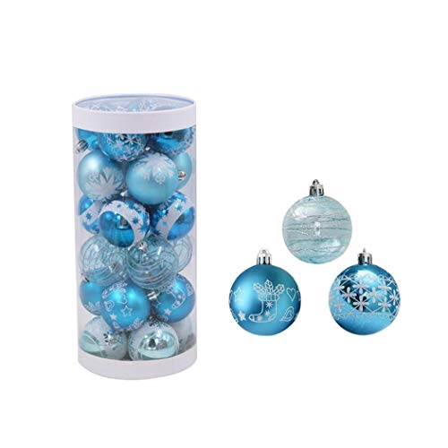 24pcs de la decoración del árbol de navidad de la bola, 6cm Party Decor bola del árbol de Navidad fuera de la Florida chuchería de la gota colgante para el favor de Navidad la decoración del partido