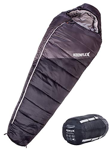 KeenFlex Schlafsack - 4 Jahreszeiten (Schwarz)