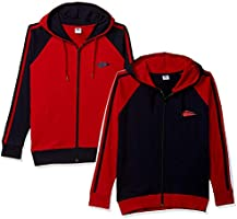 SOUTH SAILOR Boys Hooded Sweatshirt Pack of 2 Red and Navy Blue Color
