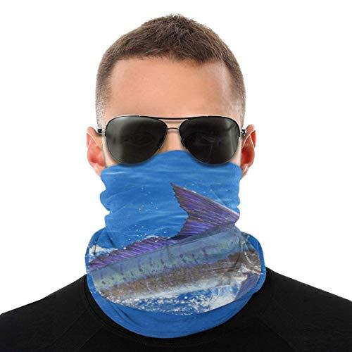 Mask Bandana Stripe Marlin Fish Men Women Neck Gaiters for Dust Wind Motorcycle scarf