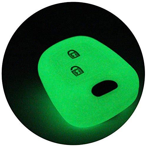 Schlüssel Hülle PEC für 2 Tasten Autoschlüssel Silikon Cover von Finest-Folia (Nachtleuchtend)