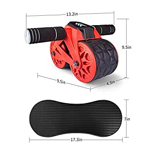 leikefitness Twist Stair Stepper 6600(Pink) and Ab Carver Wheel Roller 1300 Bundle