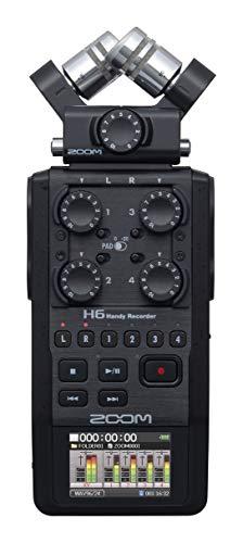 ZOOM ズーム 2020モデル リニアPCM/IC マイクカプセル交換型 ハンディレコーダーメーカー3年延長保証付 H6 BLACK