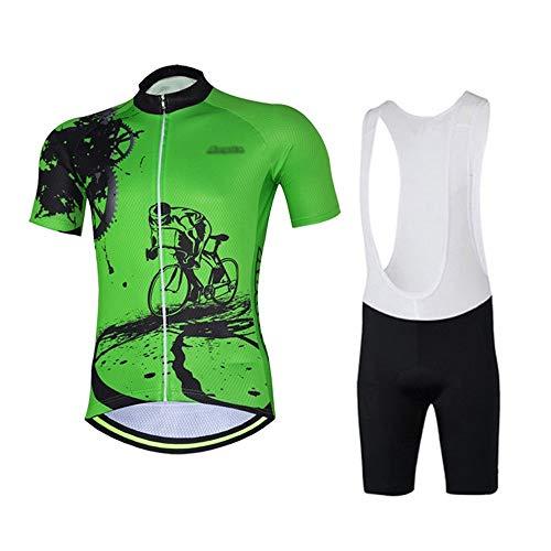 Respirant Hommes Vêtements de vélo Maillot Ciclismo été Rapide Route sèche Vêtements de vélo Faire du vélo Set Jersey (Color : 07, Taille : 3XL)