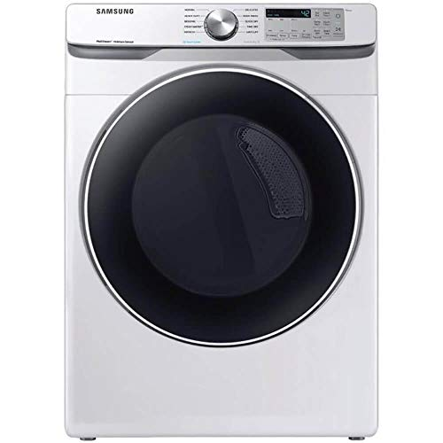 Samsung DVE45T6200W 7.5 Cu. Ft. White Smart Electric Front Load Dryer with Steam Sanitize+
