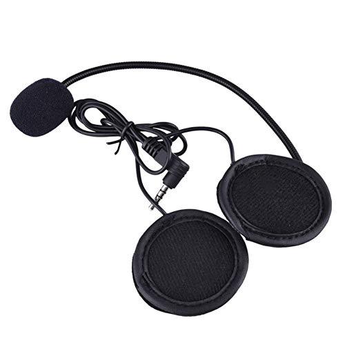 QSPORTPEAK Motorrad Helm Zubehör Mikrofon Kopfhörer Hard Cable Headset & Clip für Neue V6 / V4 Motorrad Bluetooth Interphone Intercom