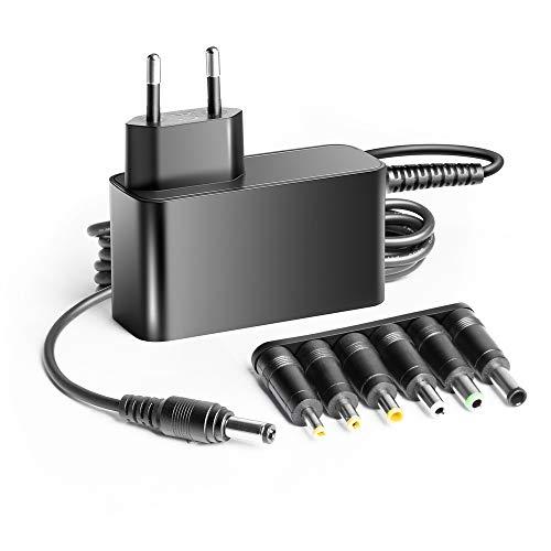 KFD 12 V 3 A 2 A 1,67 A Fuente de alimentación universal para ordenador portátil LCD TFT con 6 puntas de 4,0 x 1,7, 4,8 x 1,7 5,5 x 2,5 5,5 x 3,0 6,5 x 4,4 6,5 x 3,0 mm