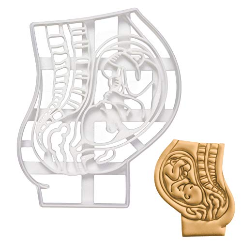 Pregnant Womb with Foetus cookie cutter, 1 piece - Bakerlogy