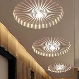 JT Tech LED 3W White/Warm White Aluminum Ceiling Light Corridor Balcony Pendant Lamp Chandelier Fixture (Warm white)