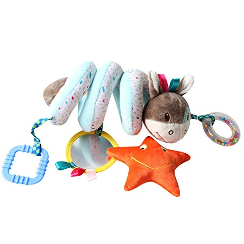 Demarkt Spirale Bett Kinderwagen Spielzeug - Baby-Spielzeug für Kinderwagen, Babyschale Autositz - Activity-Spirale zum Greifen, Hin- Herschaukeln - bunt