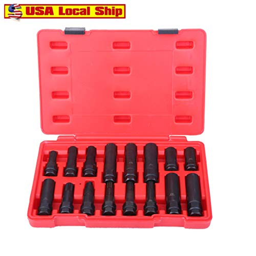 Buy Discount Wheel Locking Key Removal Set - 16-Pc Locking Lug Nut Master Set - Car Wheel Nut Lock K...