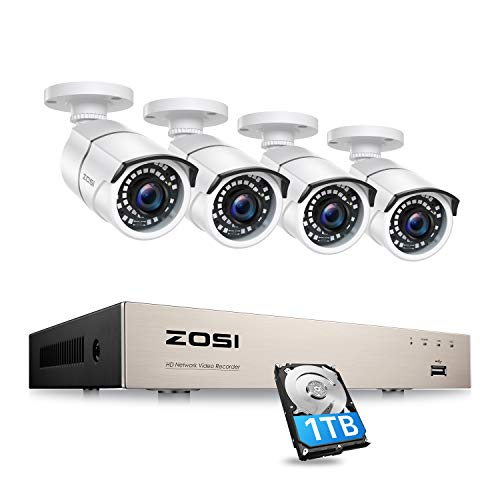 ZOSI Kit de Cámaras de Vigilancia PoE 8CH 5MP H.265+ PoE NVR...