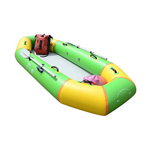 SHKUU Kayak Inflable para 3 Personas 300 kg Capacidad Carga Barco Inflable Verde con Bomba Mano Barco Pesca 240x110x35cm Barco Inflable