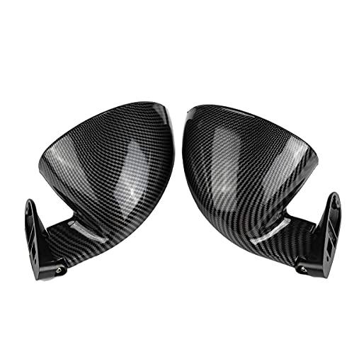 MZCDM Vista Trasera del Espejo, 2pcs Universal California Classic Classic Puerta de la Puerta del Coche Espejo de la página para Ford para Focus RS ST para Fiesta para Mondeo,Carbon Fiber look2