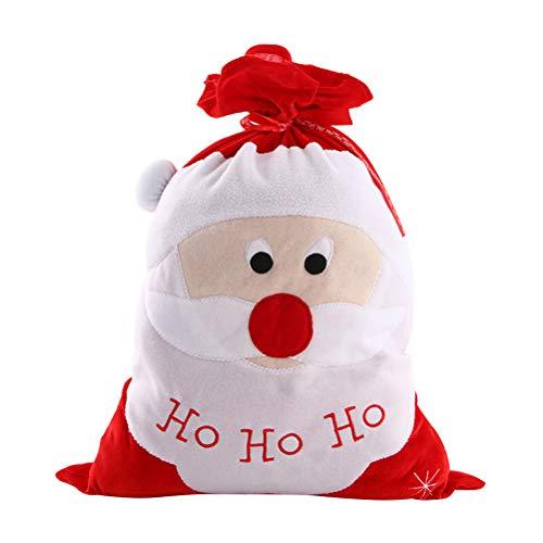 Toyvian Große Weihnachtssack Weihnachtssack mit Kordelzug Weihnachtsgeschenkbeutel Leckere Taschen (Weihnachtsmann)
