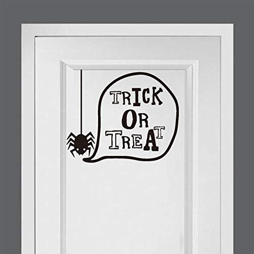 Spinne Süßes Oder Saures Halloween Party Spaß Aufkleber Moderne Wandaufkleber Für Kinder Kinderzimmer Schlafzimmer Kunst Wasserdichte Tapete Home Decor29 * 23 Cm