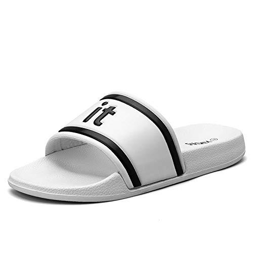 HUSHUI Bañarse Sandalias Zapatillas para Mujer,Zapatilla, baño Suave, Fresco y Transpirable-Blanco_44,Zapatos de Playa y Piscina para