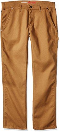 Dickies Men's Tough Max Carpenter Pant, Stonewashed Brown Duck, 32 30