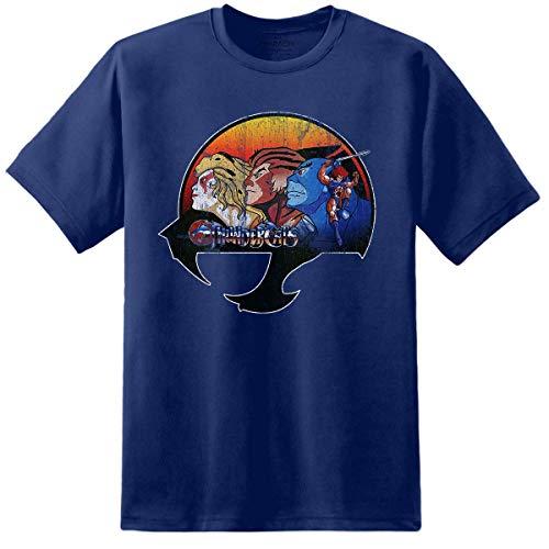 Men's Distressed Logo Thundercats Blue T-shirt, S to 2XL