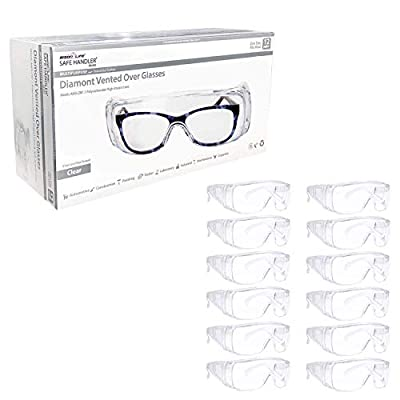 safety glasses on top of glasses