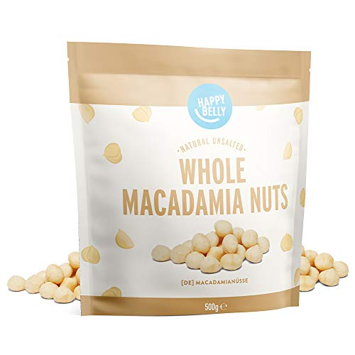 Marca Amazon - Happy Belly Nueces de macadamia, 500g
