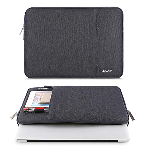 MOSISO Laptop Sleeve Hülle Kompatibel mit 13-13,3 Zoll MacBook Pro, MacBook Air, Notebook Computer, Polyester Vertikale Stil Laptoptasche, Space Grau