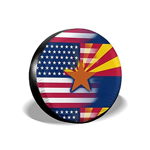 N\A Cubierta de neumático de Rueda de Repuesto de Bandera del Estado de Arizona de EE. UU. Impermeable para Remolque RV SUV camión Camper Accesorios de Remolque de Viaje