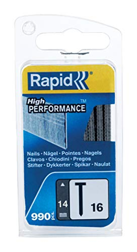 Rapid, 40109554, Clous N°16, 14mm de longueur, 990 pièces, Fil galvanisé, Haute performance