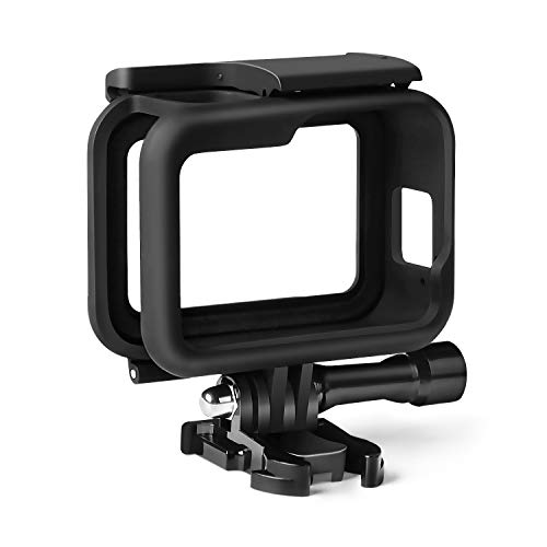 Kupton Housing Frame Case for GoPro Hero 8 Black, Protective Shell Cage Mount Accessories for GoPro Hero 8 with Quick Pull Movable Socket and Screw (Black)