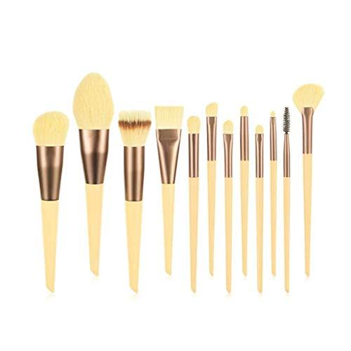 NXYJD 9/12 stücke Make-up Pinsel Set Lidschatten Pulver Highlight Blush Pinsel Gesichtsmake-up-Werkzeuge Weiche Hautfreundliche Basisbürste Maquiagem (Color : 12pcs B)