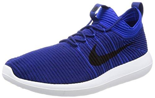 Nike Men's Roshe Two Flyknit V2 Running Shoes (Deep Royal/Obsidian-Racer Blue, 10.5)