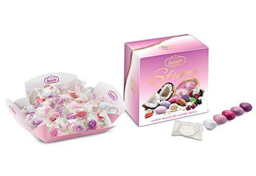 Confetti Incartati Singolarmente in Vassoio Sfumè Rosa Buratti Confetti 500g Senza Glutine