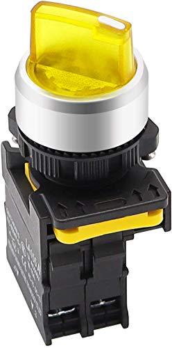 Tnisesm - Interruptor selector giratorio de 10 A, 600 V LA155-A1-10XD-Y, color amarillo