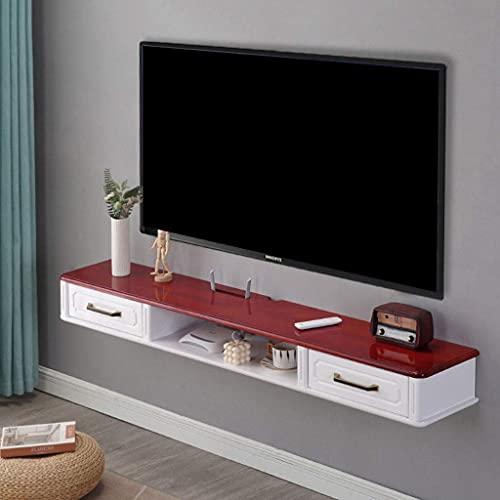PPOIU Mueble de TV Flotante Consola Multimedia para Montaje en Pared Soporte de TV 2 cajones, Estante de componentes de Pared Estante de Almacenamiento de Entretenimiento Estante de TV c