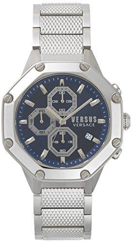 Versus by Versace Herren Analog Quarz Uhr mit Edelstahl Armband VSP390117