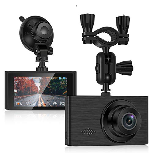 Dash Cam for car, 1296P Full HD Dash Camera for Cars Recorder Super Night Vision, 3 inches IPS Touch Screen 170° Wide Angle, Support 64GB Card