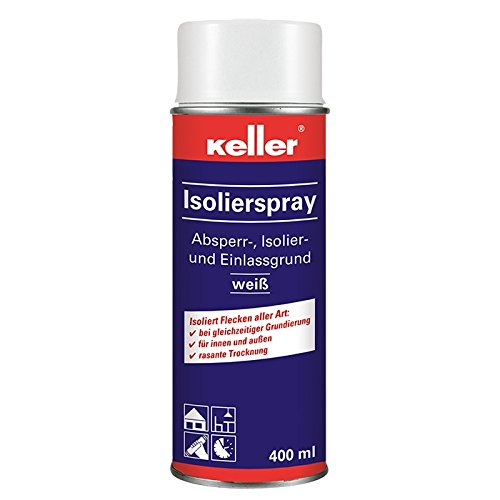 Keller Isolierspray 584, 400 ml weiß, Isoliergrund, Einlassgrund, Sperrgrund