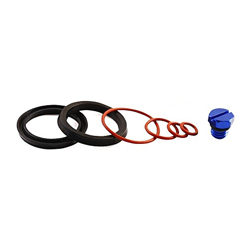 Lelecar Fuel Filter Head Primer Seal Rebuild Kit and Air Bleeder Screw for 2001-2013 GM Duramax Fuel Filter Housing -Aluminum Screw(Blue)