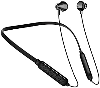 Kmnic A10 Wireless Magnetic Bluetooth Neckband Earphones Headset with Mic Compatible Mobile Bluetooth (Assorted)