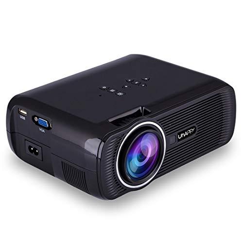 DuLing Proyector casero, Micro Portable LED proyector 1080P Full HD de 3000 lúmenes proyector de vídeo, for Cine en casa, TV, Ordenador portátil, teléfono Inteligente (Color : Negro)