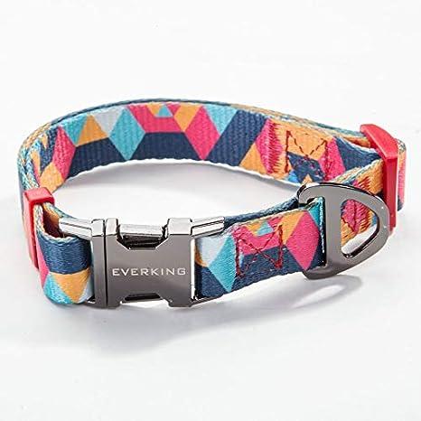 Everking Hundehalsband Halsband Modern Mehrfarbig Verstellbar Medium 0202 6 Haustier