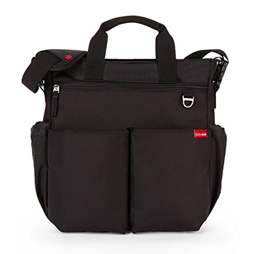 Skip Hop Messenger Diaper Bag with Matching Changing Pad, Duo Signature, Black