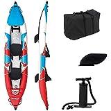 ZLZNX Kayak Inflable de 2 Personas, Juego de Bote Inflable, Bote Inflable, Kayak Inflable PortáTil Bote de ExploracióN Plegable de Goma para Dos Personas Canoa para Pesca Estable y CóModa