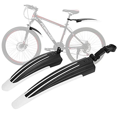 Fahrrad Schutzblech Set [20-26 Zoll] Verstellbare Universal Fahrradschutzblech MTB Schutzblech Rennrad Mountainbike Steckschutzblech zum Schutz vor Spritzwasser & Schmutz