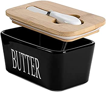 Hasense Butter Dish with Bamboo Lid and Knife
