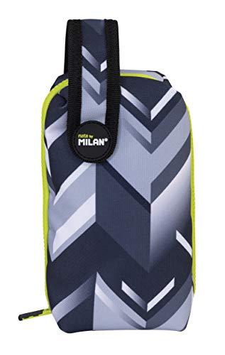 MILAN Kit 1 Estuche con Contenido Edge Estuches, 19 cm, Gris