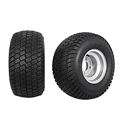 Bestauto Golf Cart Tires 18X9.5-8 Go Kart 4 Ply Tires Rim Wheel Assembly 1040LB Capacity Golf Cart Wheels and Golf Cart Tires Combo, Sets of Two
