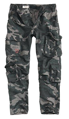Surplus En El Aire Vintage Slimmy Pantalones   algodón, Negro Camuflaje, 100 % 100% algodón algodón, hombre, M